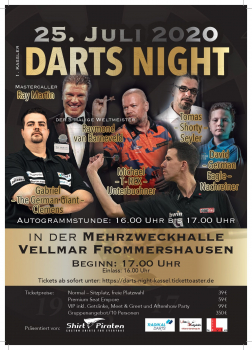 1. Kassler Darts Night - Eintrittskarte - V.I.P.