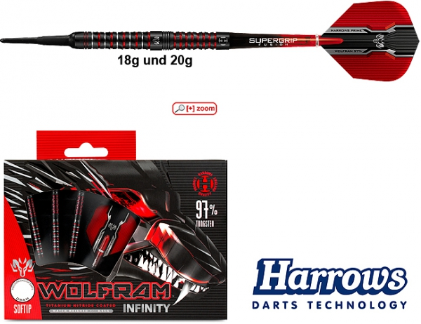 Harrows Wolfram Infinity 97% - Softdarts